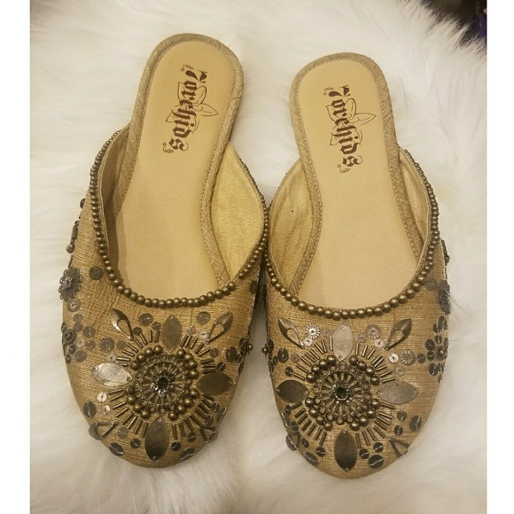 7orchids Shoes - 🛍4/$20 7orchids Sequin Flats /Slippers